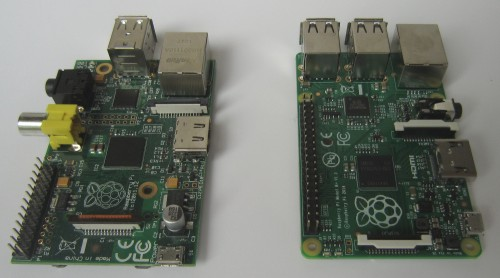 Links das Modell B, rechts Modell B+