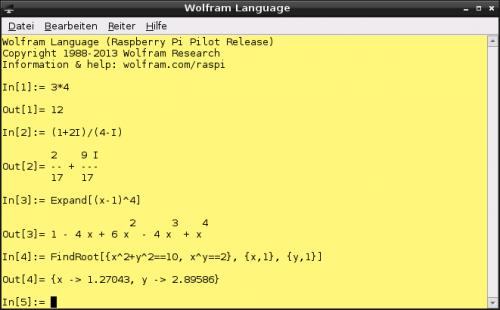 Mathematica im Textmodus