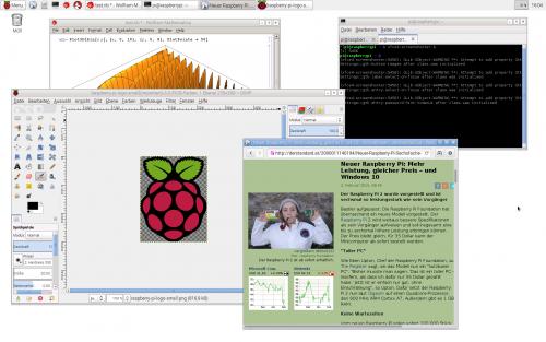 Mehrere Programme gleichzeitig auf dem Desktop ausführen: kein Problem mehr auf dem Pi 2
