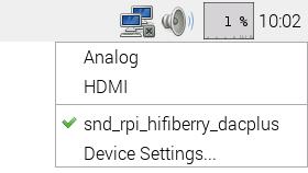 Das Audio-System nutzt den HiFiBerry-Audio-Ausgang.