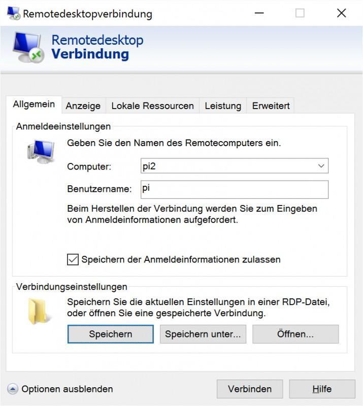 RDP-Verbindung herstellen