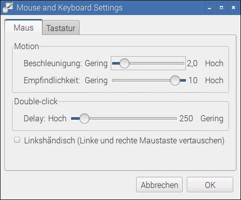 Ein neues Konfigurationsprogramm hilft dabei, Maus und Tastatur optimal einzurichten.
