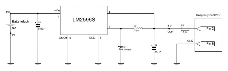 LM2596S Schaltplan